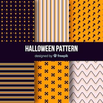 Halloween deseniowa kolekcja z geometrycznym projektem