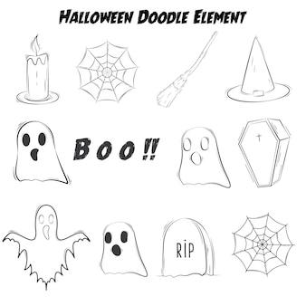 Halloween doodle element odrobina czarny kolor