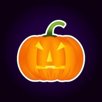 Halloween dynia wektor ikona, zmienność emocji, emoji. proste elementy projektu w stylu płaski. różne śmieszne i przerażające wyrażenia twarzy.