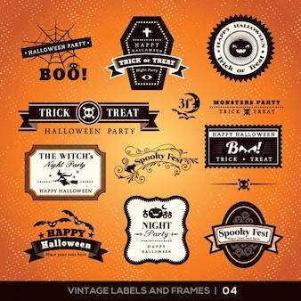 Halloween etykiety kolekcji