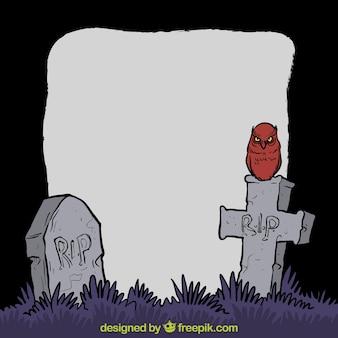 Halloween grób tła