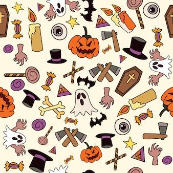 Halloween ikona wzór