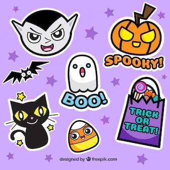Halloween opakowanie śmieszne naklejek