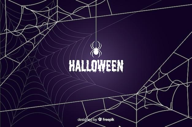 Halloween pajęczyna tło