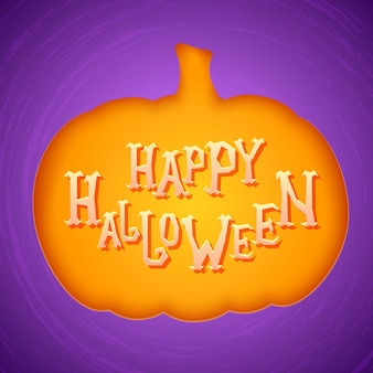 Halloween party plakat lub karta zaproszenie