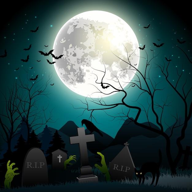 Halloween party straszne tło