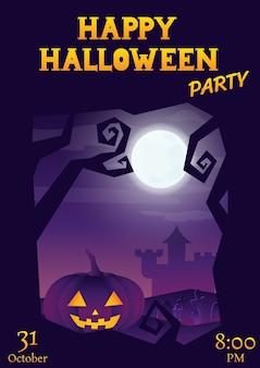 Halloween party szorstki fioletowy powitanie gradientu