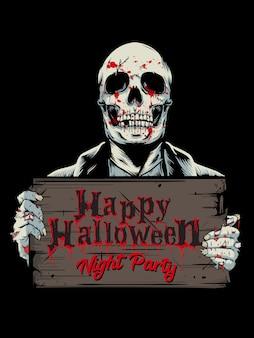 Halloween party tło
