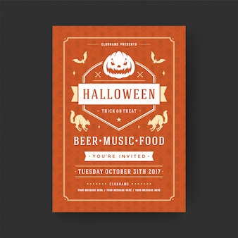 Halloween party ulotki celebracja noc party plakat