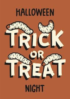 Halloween paskudny robak lub żarcie do druku na halloween