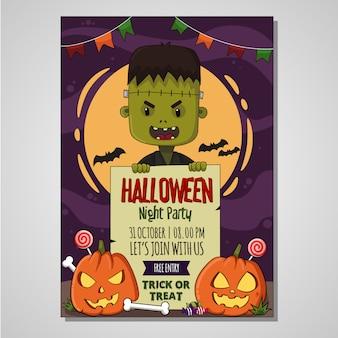 Halloween plakat dzieci