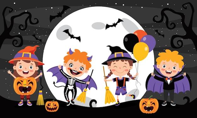 Halloween projekt z postać z kreskówki