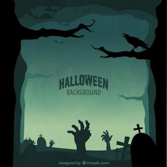 Halloween silhouettes tła