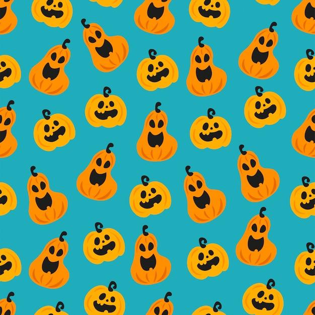 Halloween śmieszne dyni głowy wzór