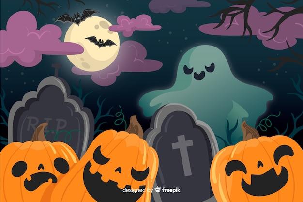 Halloween straszny noc tło