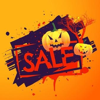 Halloween tła sezonowa sprzedaż