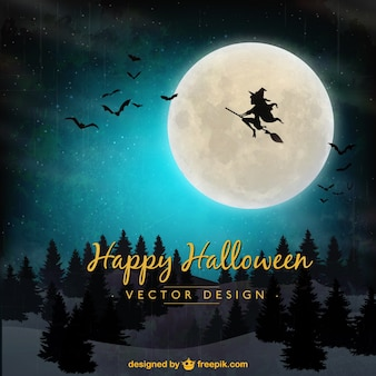 Halloween tle z latania czarownica