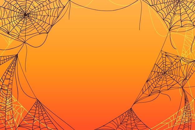 Halloween tło gradientowe pajęczyna
