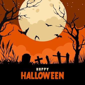 Halloween tło w płaskiej konstrukcji