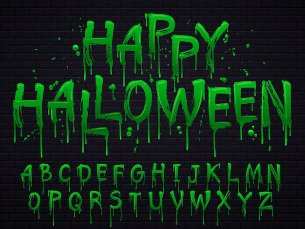 Halloween toksyczne litery odpadów