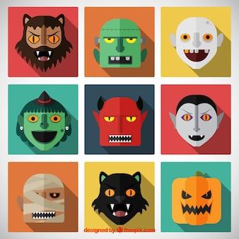 Halloween twarze postaci