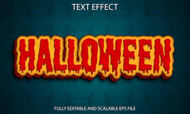 Halloween w pełni edytowalny efekt tekstowy