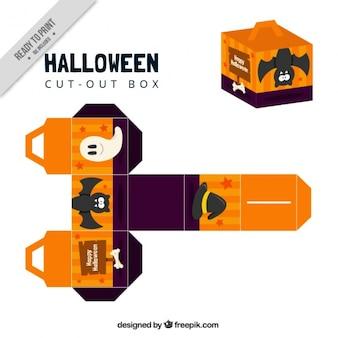 Halloween wyciąć ładne pudełko