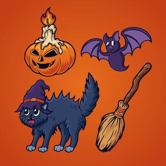 Halloween zestaw ilustracji
