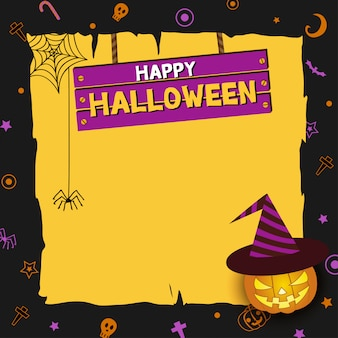 Halloween-znak drewna
