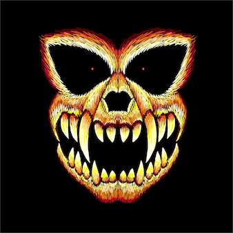 Halloweenowa czaszka. tło w stylu czaszki.