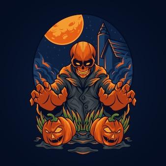 Halloweenowa czaszka