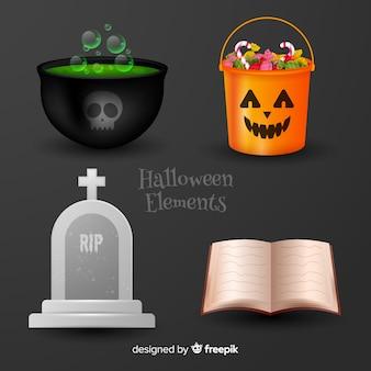 Halloweenowa dekoracja na czarnym tle