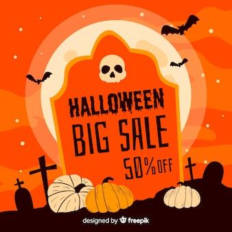Halloweenowa duża sprzedaż na nagrobku