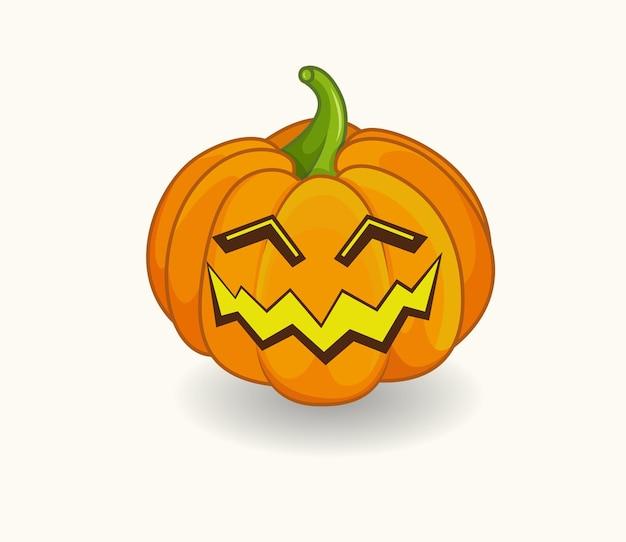 Halloweenowa dynia z przerażającym uśmiechem symbol wesołych świąt halloween