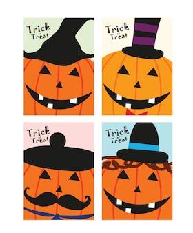 Halloweenowa dyniowa pomarańczowa karta