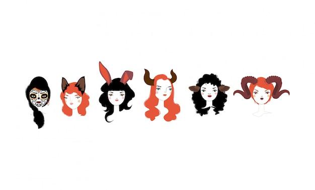 Halloweenowa dziewczyny ilustracja