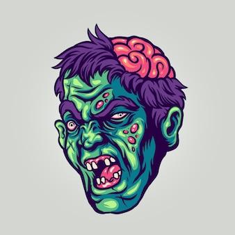 Halloweenowa głowa zombie