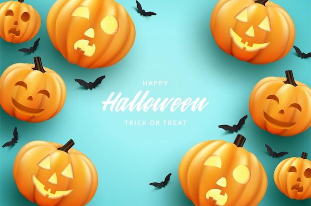 Halloweenowa impreza dyniowa z przerażającymi uśmiechami
