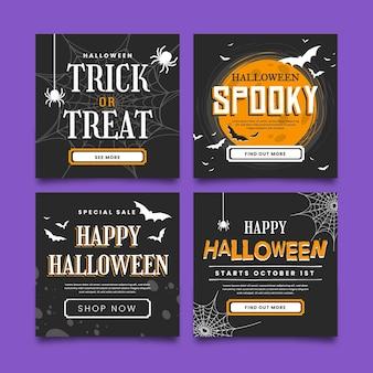 Halloweenowa kolekcja postów na instagramie