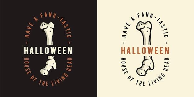 Halloweenowa kość strachu zombie na halloweenowy nadruk