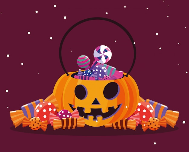 Halloweenowa kreskówka dyni