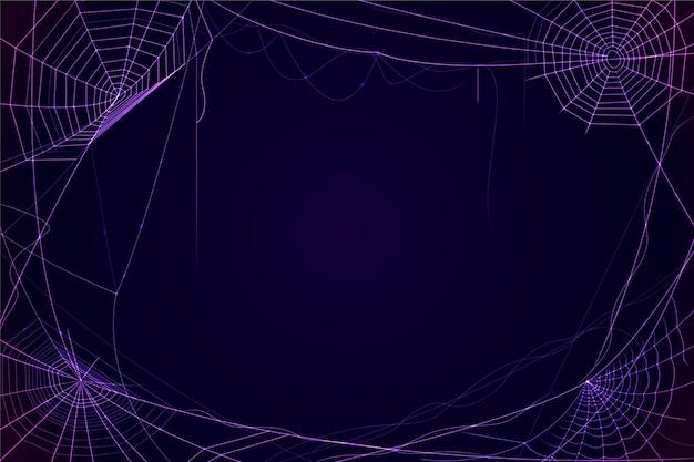 Halloweenowa neonowa pajęczyna tapeta
