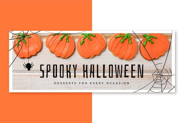 Halloweenowa okładka na facebooku