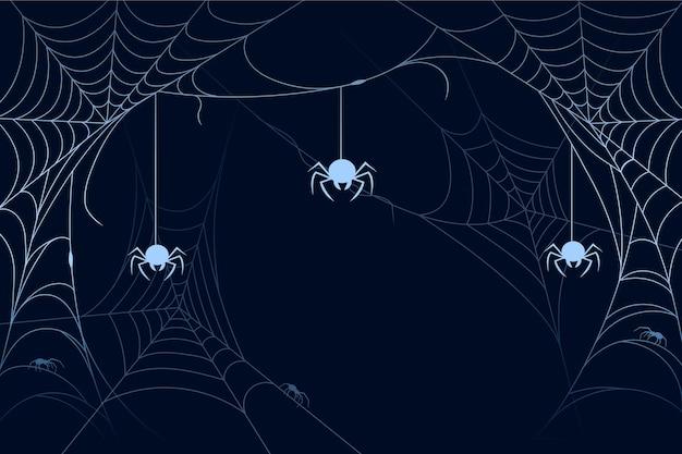 Halloweenowa pajęczyna tło cocnept