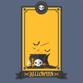 Halloweenowa plakatowa magiczna wektorowa ilustracja
