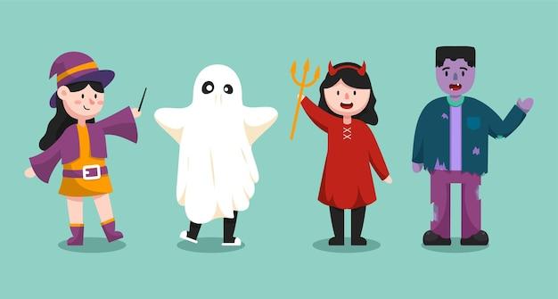 Halloweenowa postać z kreskówki ilustracja