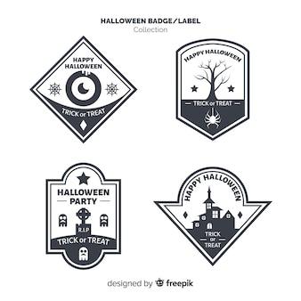 Halloweenowa rocznika odznaki kolekcja