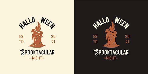 Halloweenowa świeca ognia na noc halloweenowy wydruk