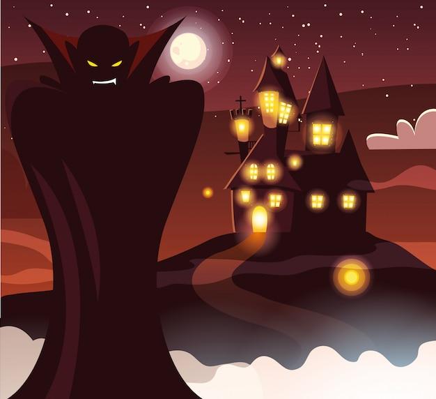 Halloweenowa wampiryczna kreskówka