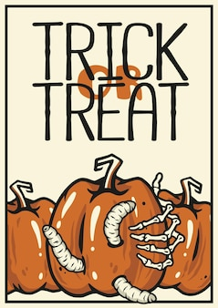 Halloweenowa zła dynia ze strachu nadruk na halloween